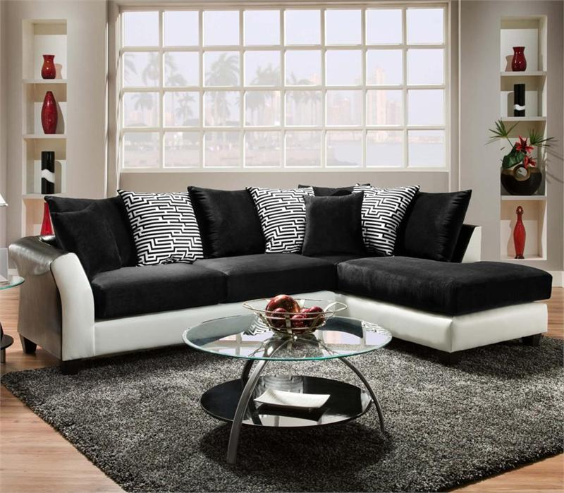 Black/White : two tone sectional - Sectionals, Sofas & Couches