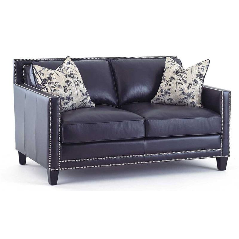 Hendrix Navy Blue Leather Sofa by Steve Silver – Navy Blue Leather Chairs