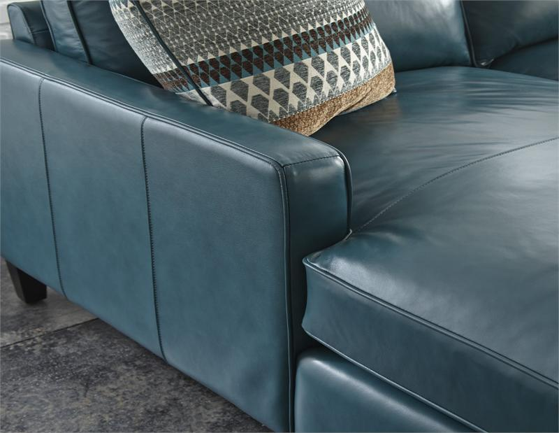 St croix chaise sofa for Blue leather chaise